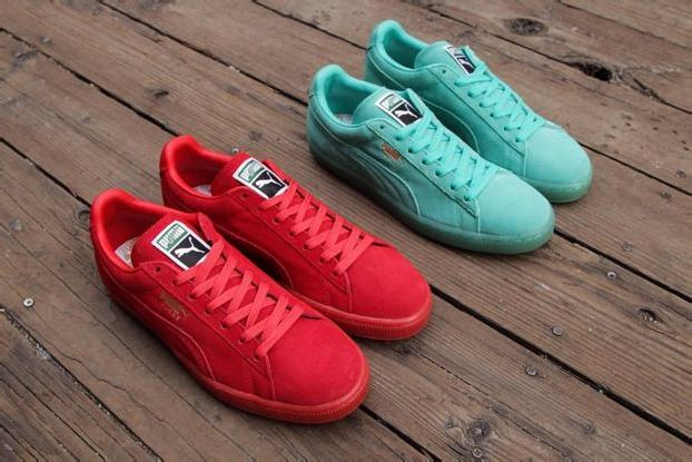 PUMA SUEDE CLASSIC ICED – TEAL + RED