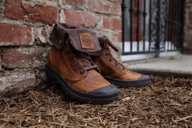 PALLADIUM BAGGY LEATHER BOOTS