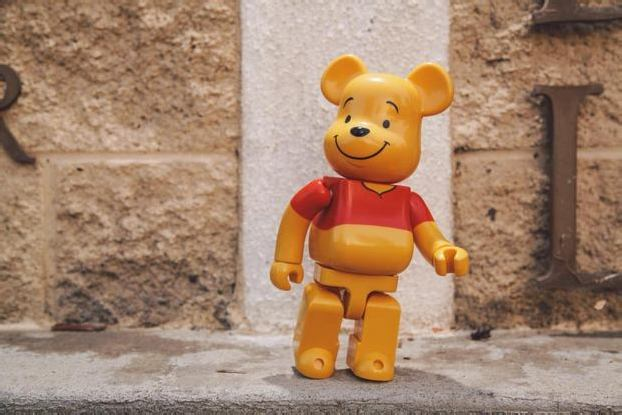 MEDICOM TOY WINNIE THE POOH 400% BE@RBRICK COLLECTIBLE FIGURE