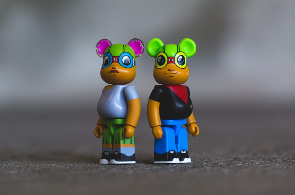 Medicom x Hebru Brantley 100%  Lil Mama & Flyboy set