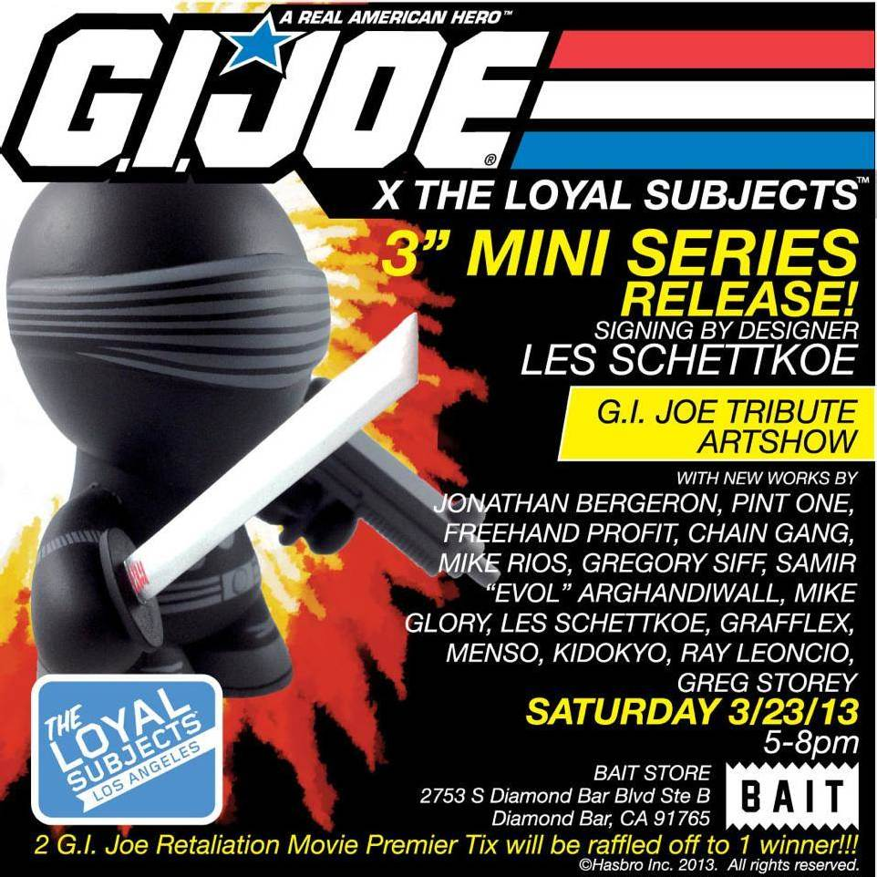 BAIT x GI Joe x The Loyal Subjects Mini Series Release & Art Tribute Show