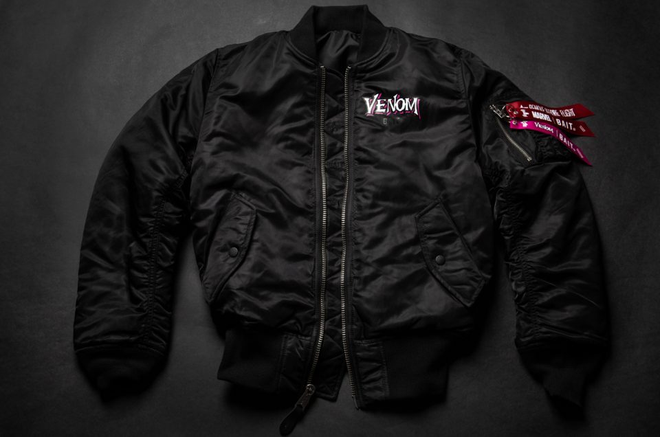 BAIT x Marvel Venom x Alpha Industries Reversible Bomber Jacket