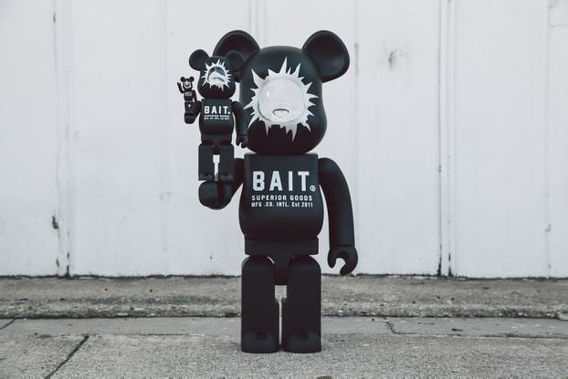"BAIT x MEDICOM TOY 1000% ""HEADSHOT"" BE@RBRICK"