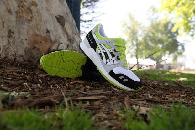 ASICS GEL LYTE III – WHITE/BLACK-LIME GREEN