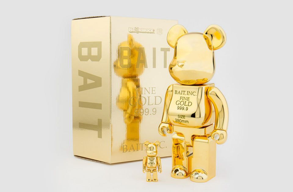 BAIT x MEDICOM GOLD BEARBRICKS: Releasing Soon!