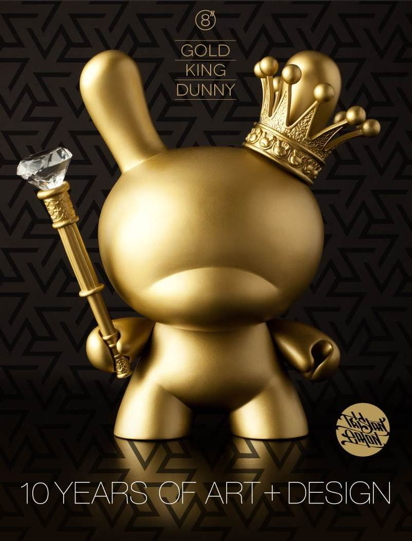 Kidrobot Gold King Dunny 8-inch Figure