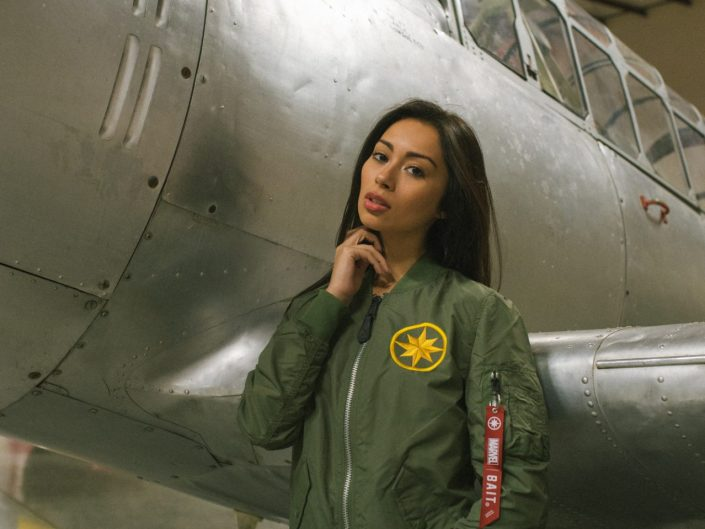 BAIT x Marvel's Captain Marvel x Alpha Industries