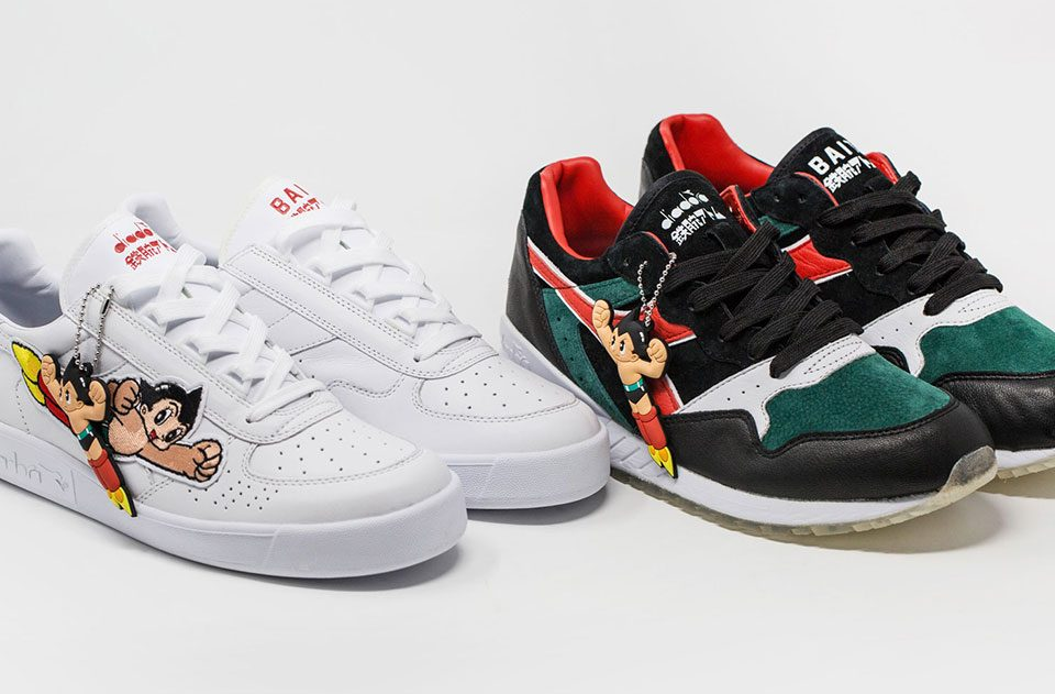 BAIT x Astro Boy x Diadora Intrepid and B.Elite