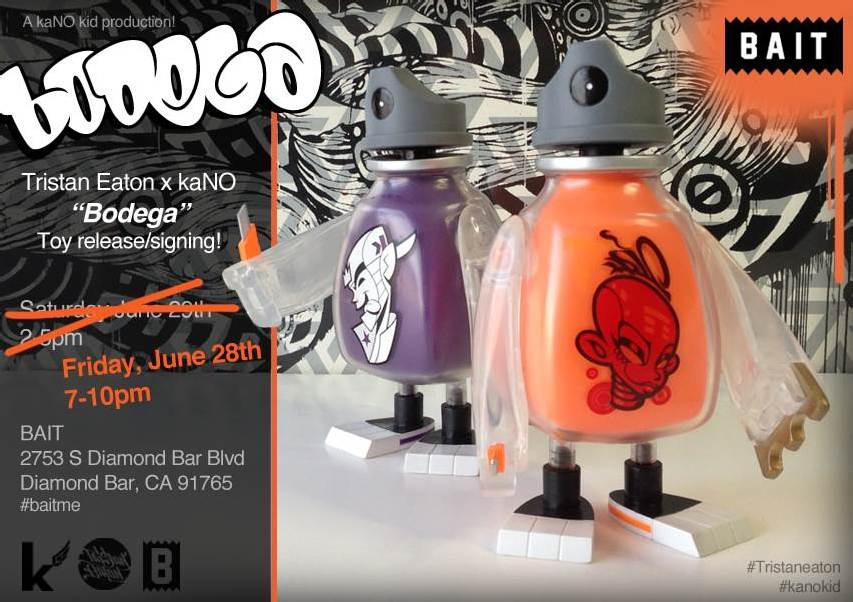"""BAIT's Tristan Eaton x kaNO """"Bodega"""" Toy Release & Signing Event – 6/28"""