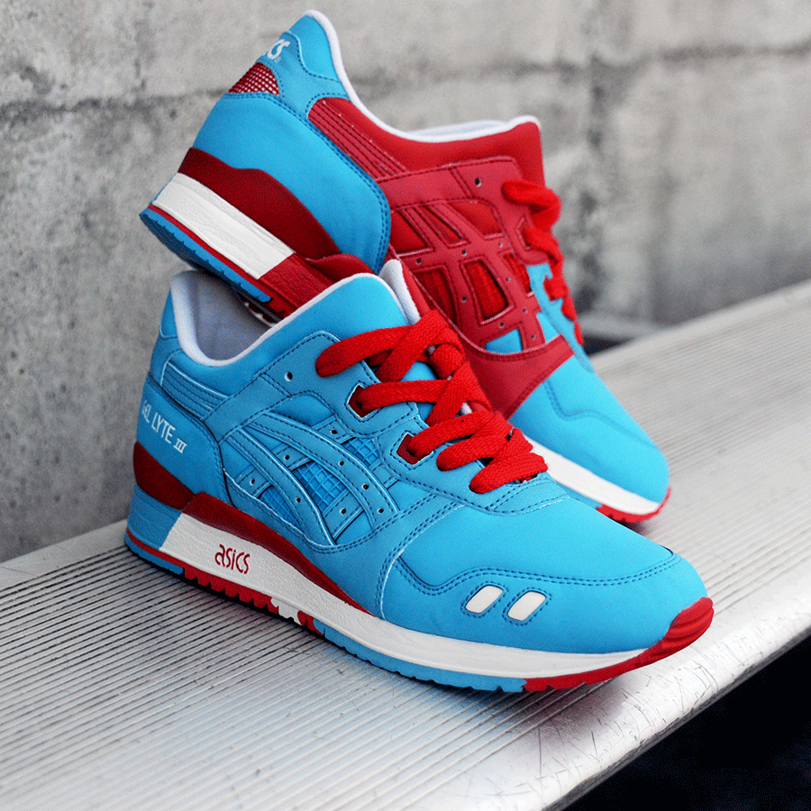 BAIT x Asics Gel-Lyte III – Rings Pack (blue / red / white)