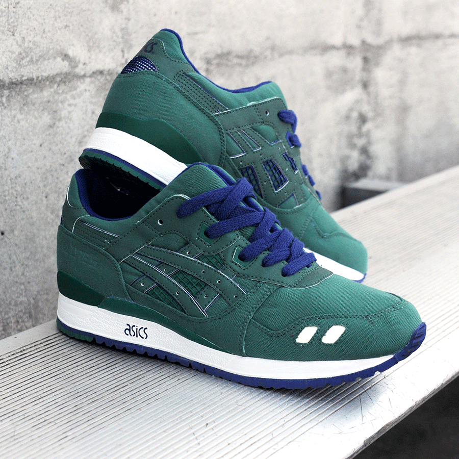 BAIT x Asics Gel-Lyte III – Rings Pack (green / purple / white)
