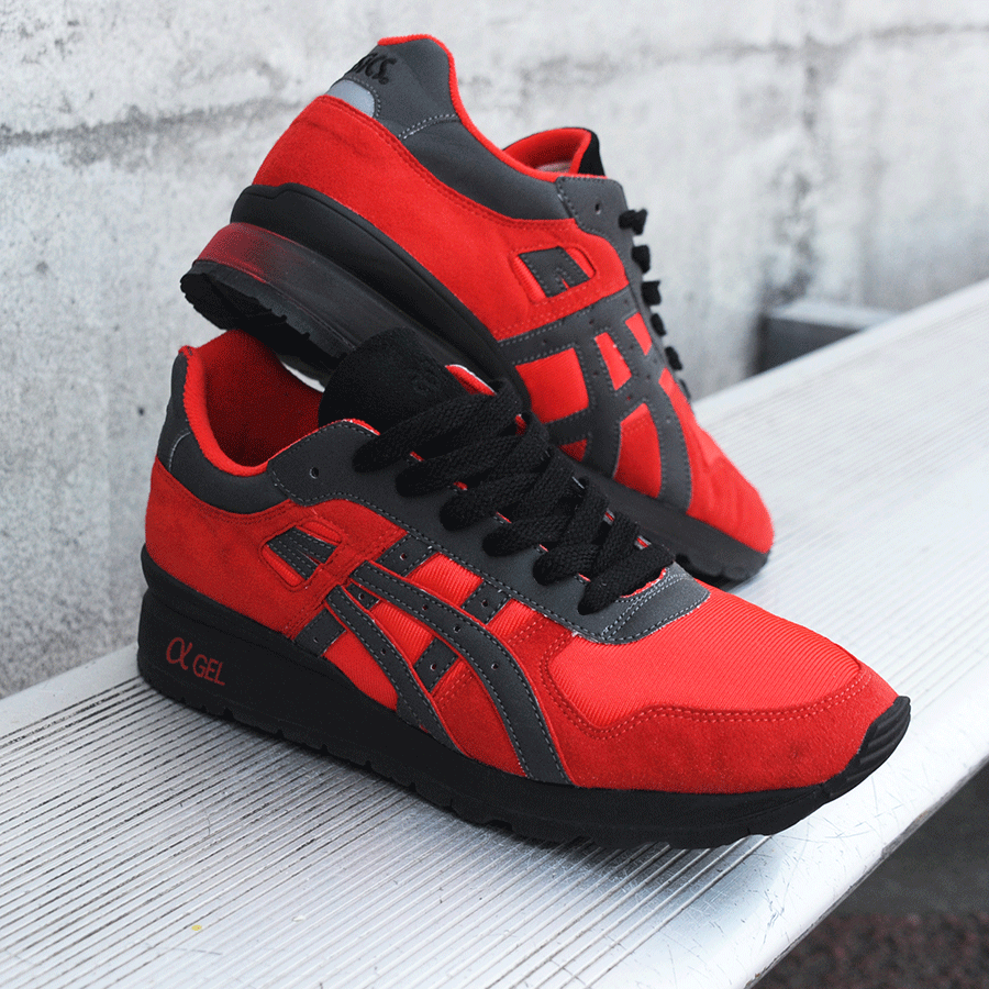 BAIT x Asics GT II – Rings Pack (red / black / silver)