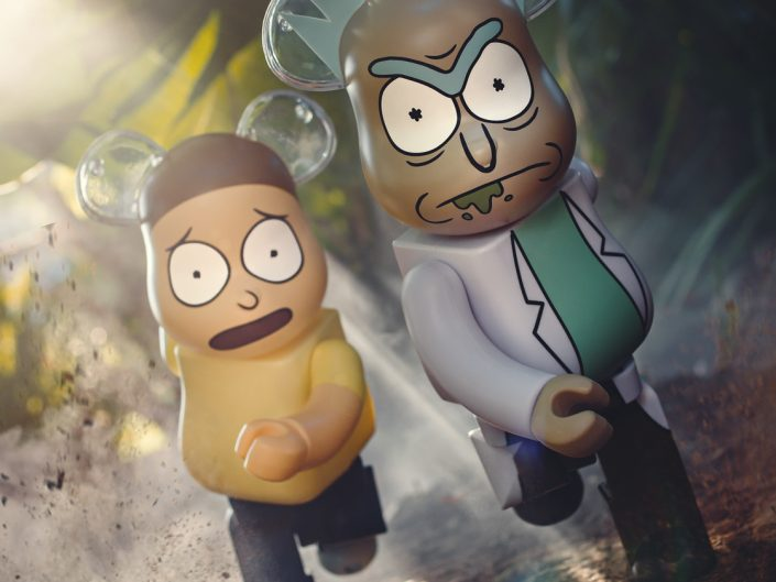 BAIT x Medicom x Rick and Morty 100% and 400%