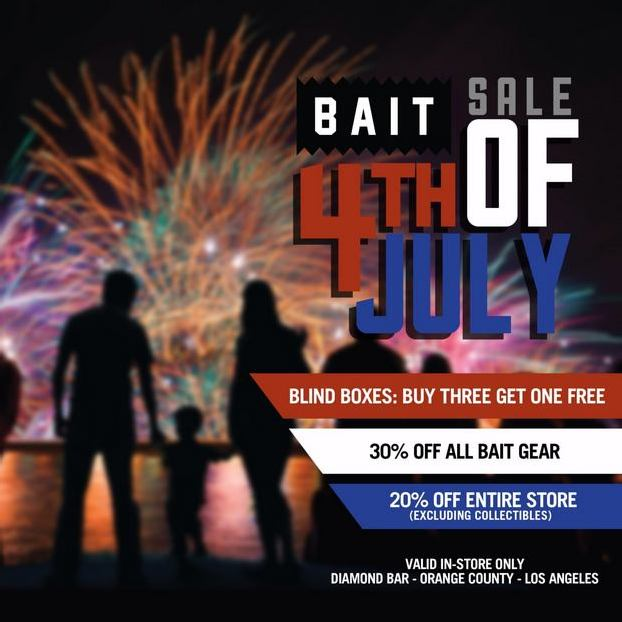 BAIT – 4TH OF JULY IN-STORE SALE