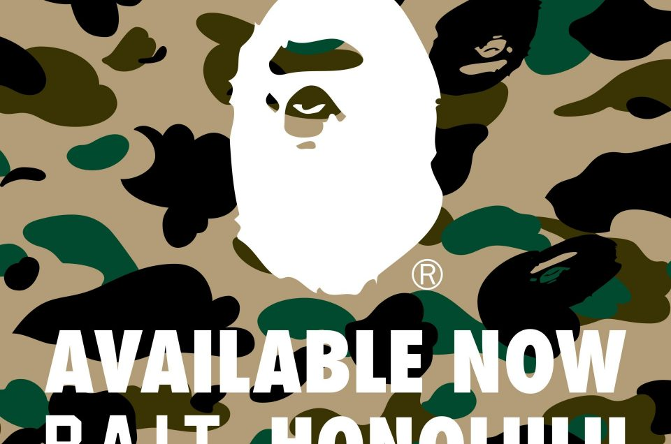 A Bathing Ape (BAPE) Now Available at BAIT Honolulu